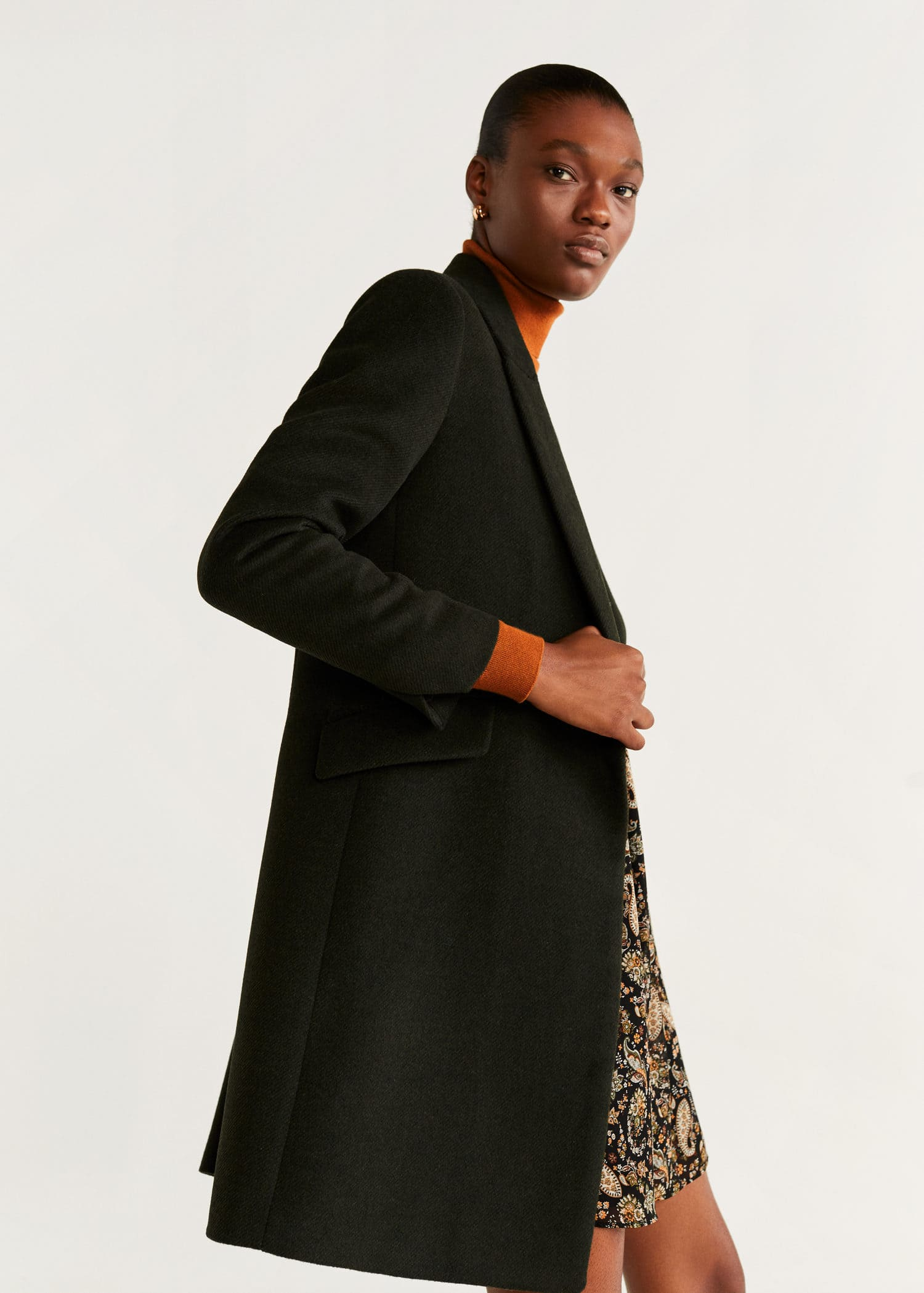 Manteau noir femme boyfriend