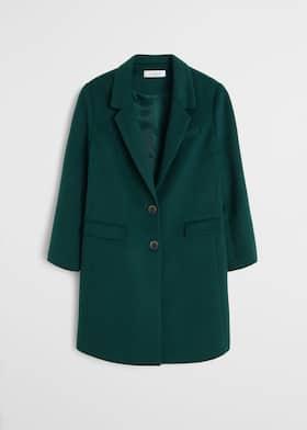 2019 mejor venta modelos de gran variedad 2019 profesional Abrigo lana estructurado