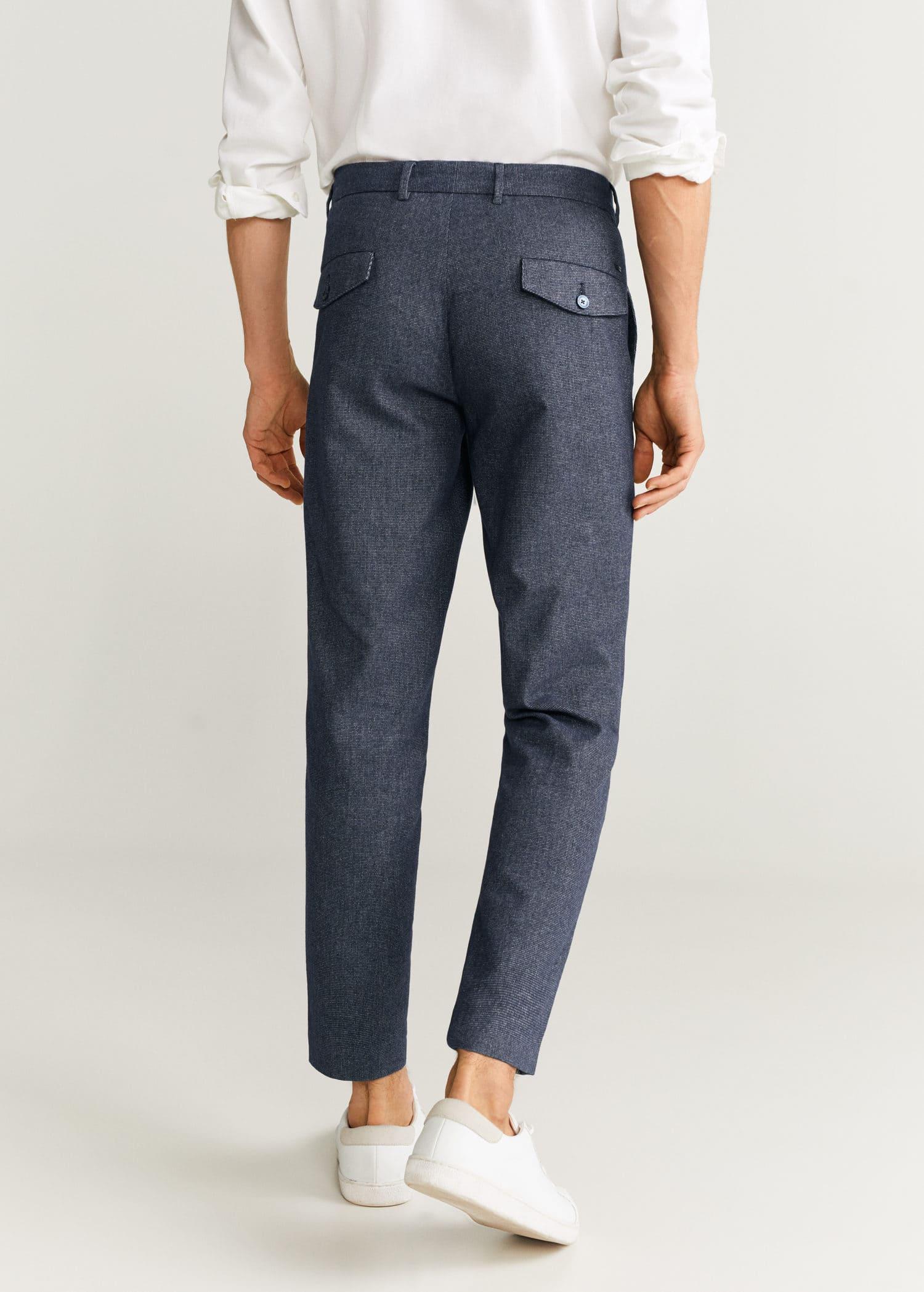 Pantalon slim fit structuré en coton