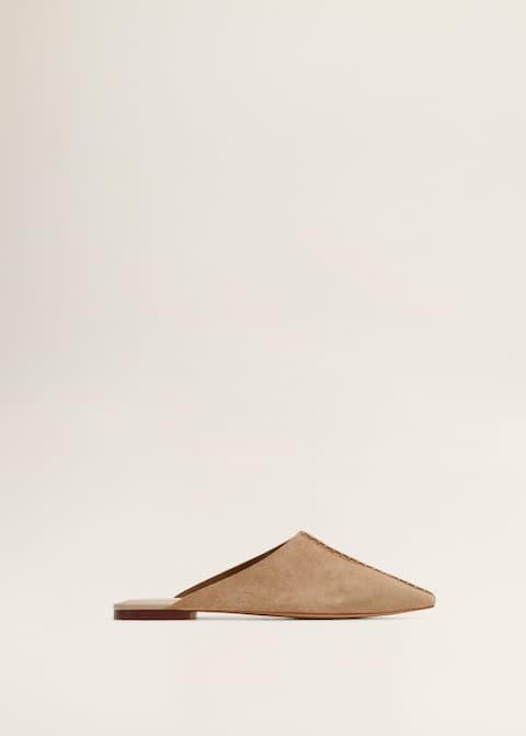 593926e8d62c2 Pantofle babusze z wycięciem - Artykuł bez modela/modelki