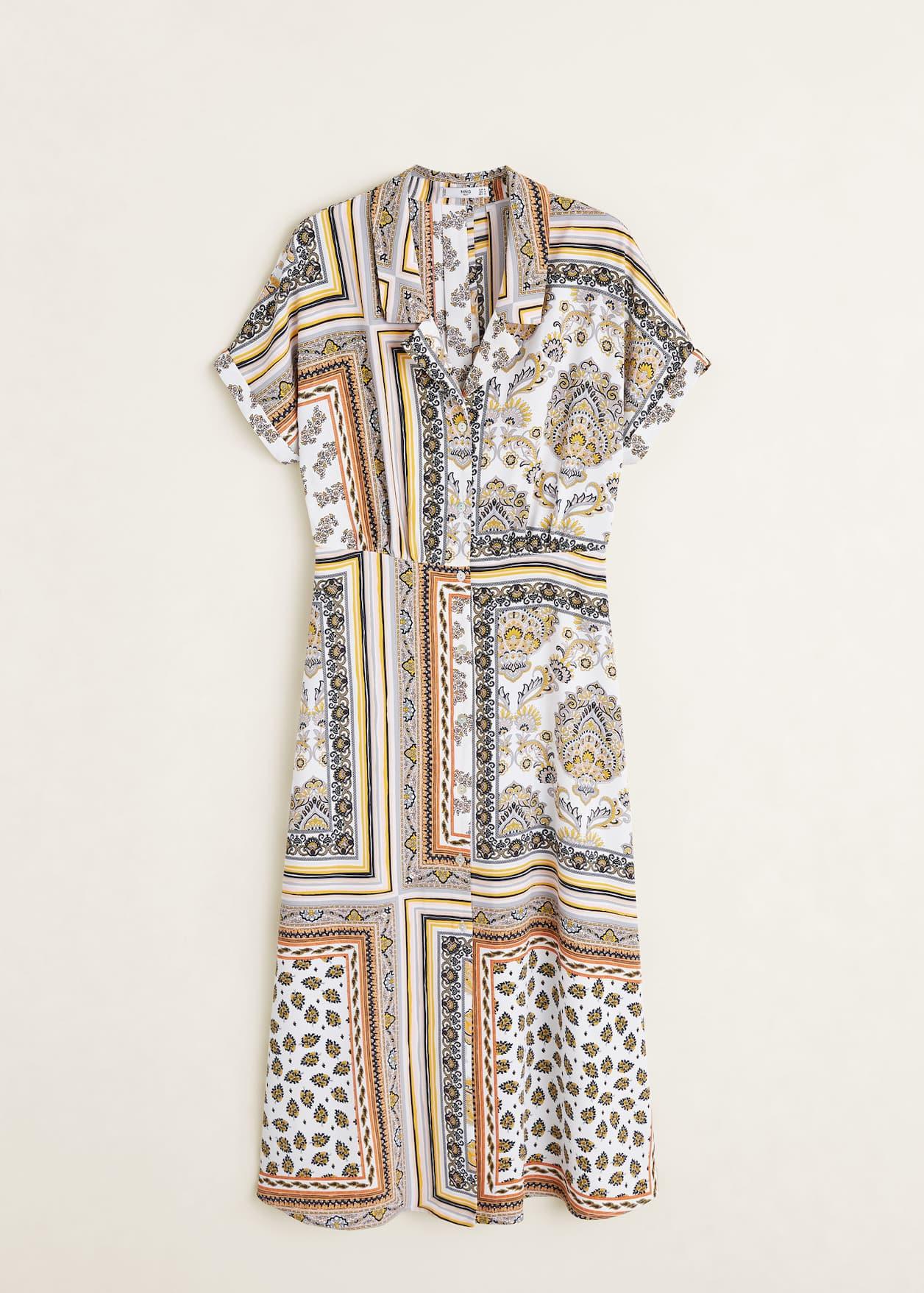 Koszulowa wzorzysta sukienka
