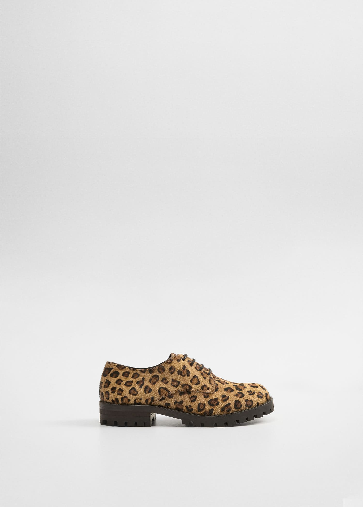 Leather leopard shoes - Girls | Mango