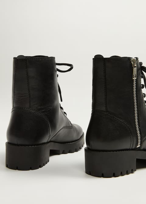 782317cfe55 Leather biker ankle boots