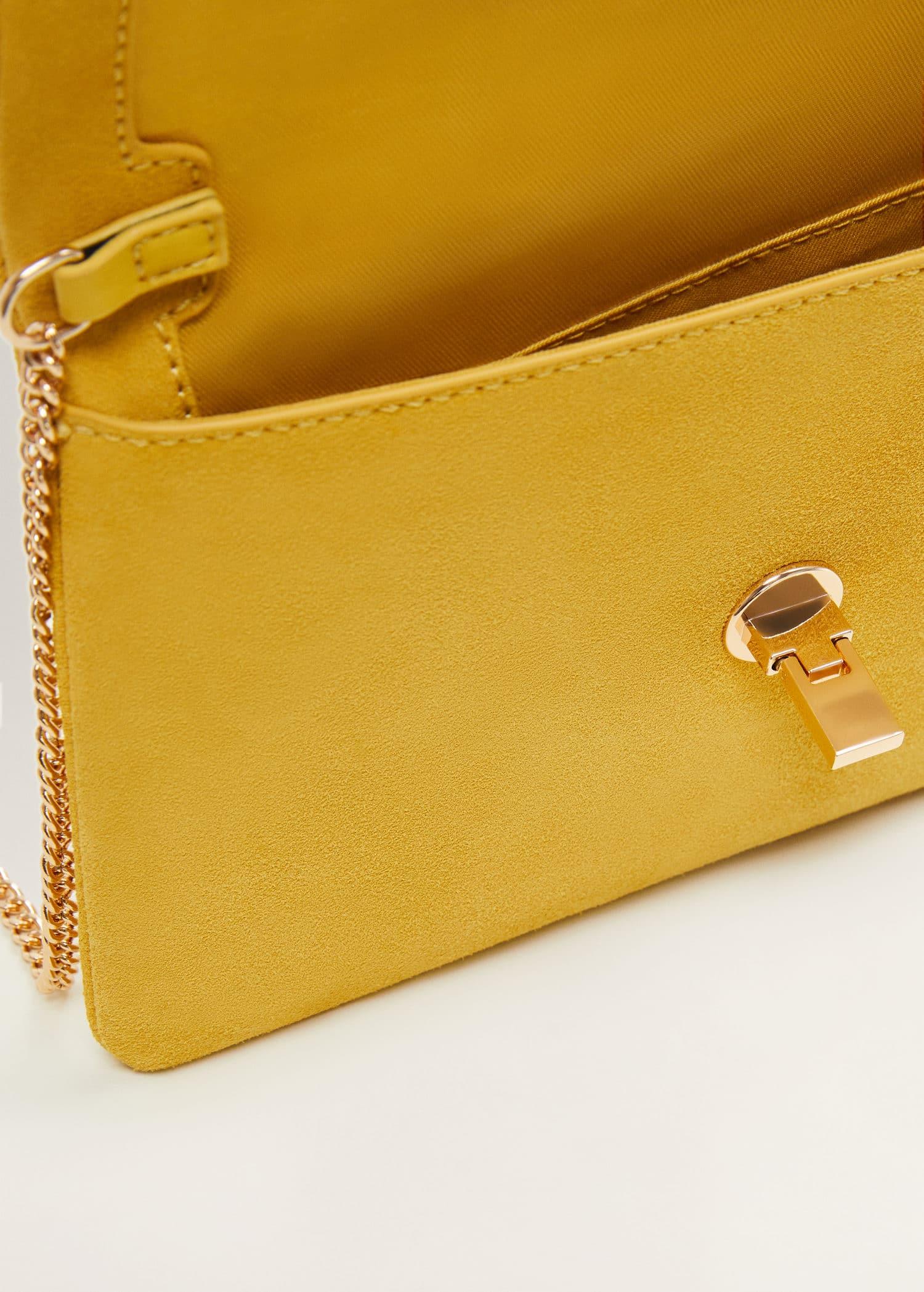 deeef22748715 Modalite - Mango Deri zarf çanta