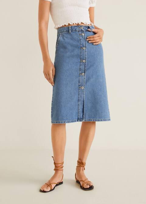 newest collection b8724 319f5 Midi-Rock aus Jeans
