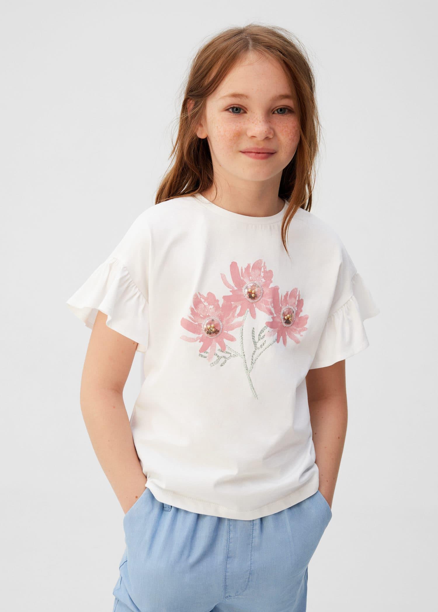 T skjorte i bomull med rund hals Gutt | Mango Kids Norge