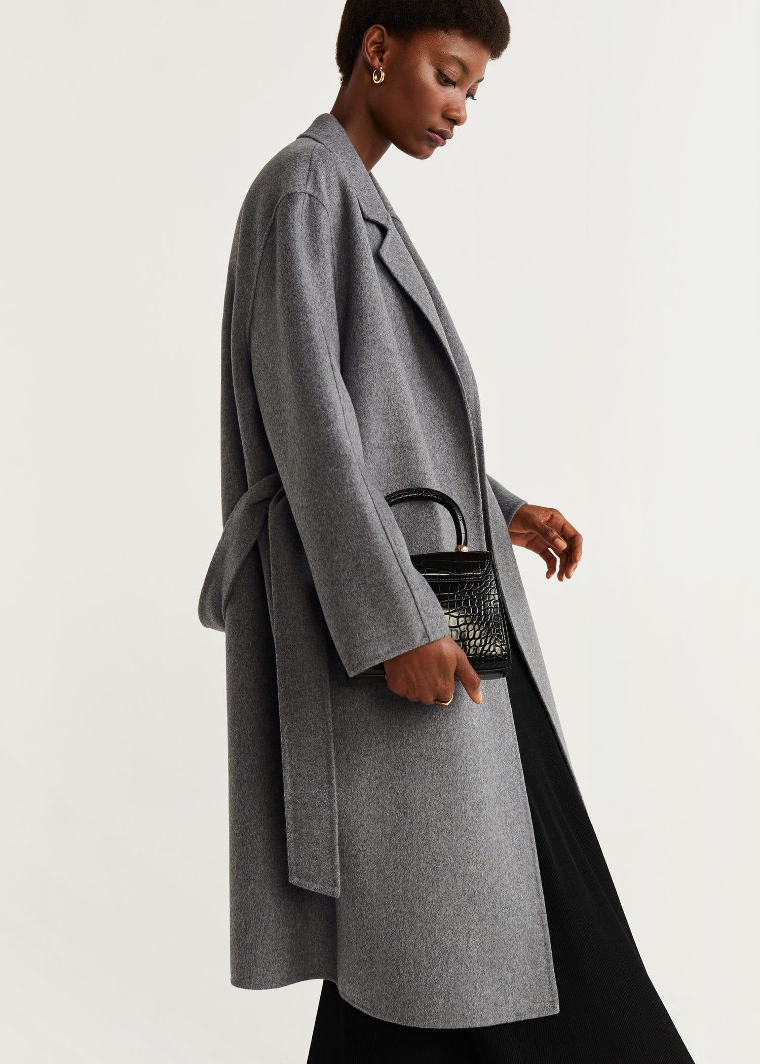 grand choix de b3e72 2cba9 Manteau en laine avec ceinture