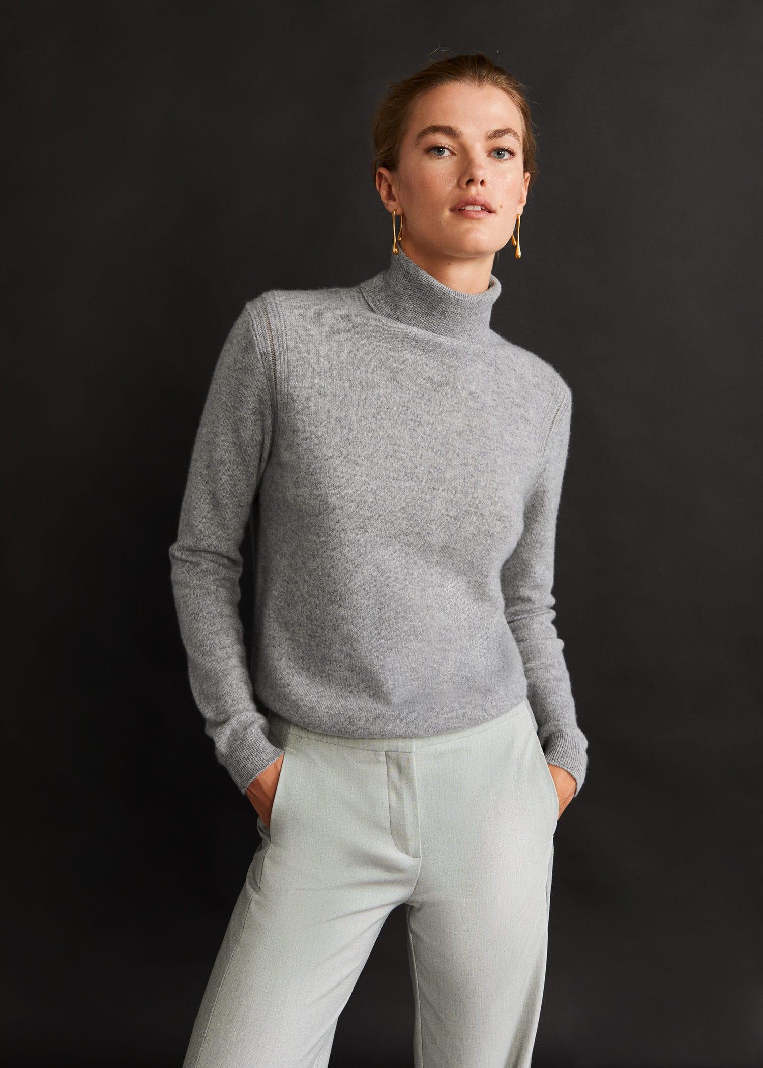 Turtleneck 100% cashmere sweater Woman | Mango Kosovo