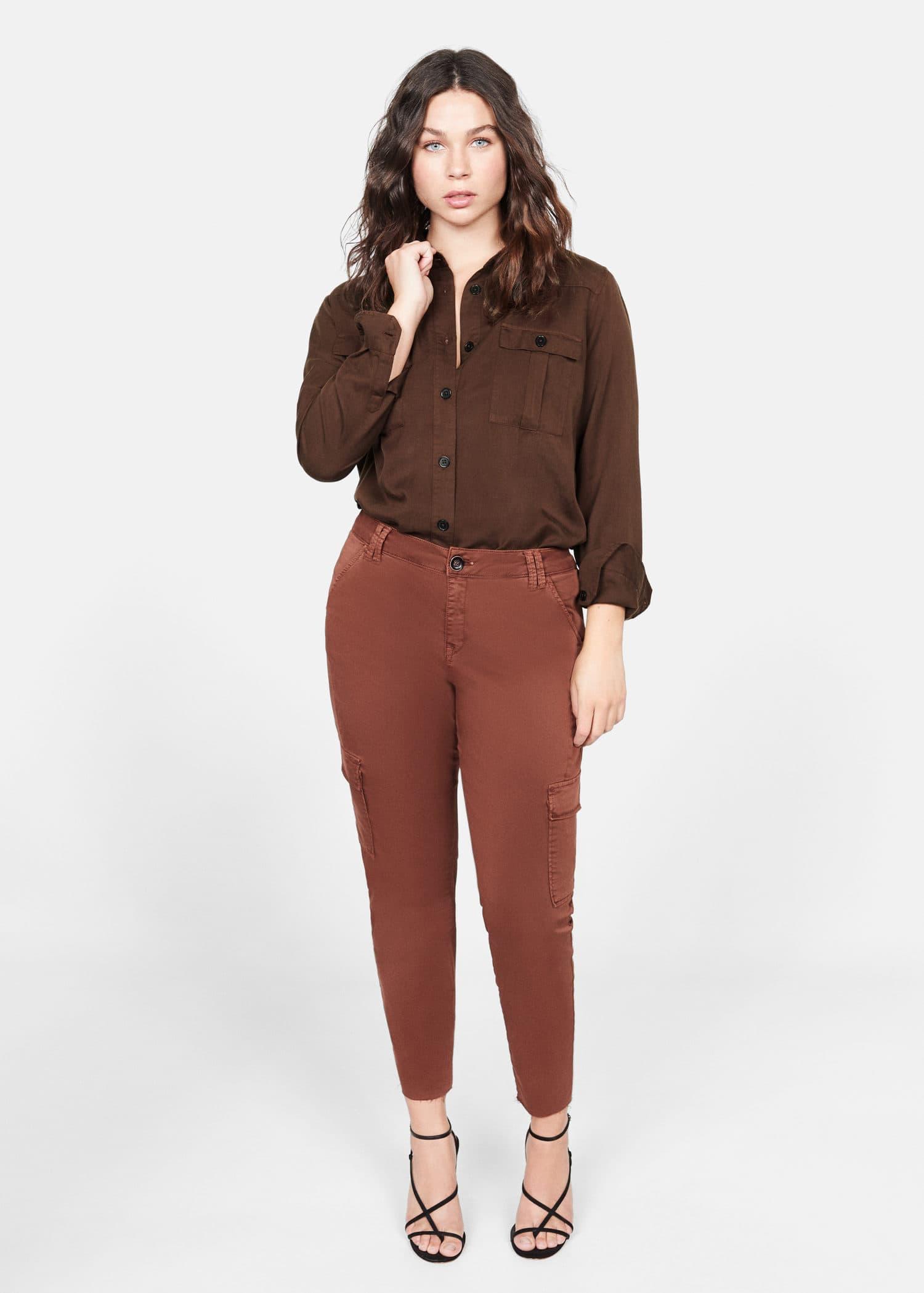 Myk skjorte med brystlomme Skjorter Store størrelser