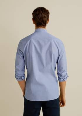 7b0da412f9 Camicia slim-fit collo alla coreana
