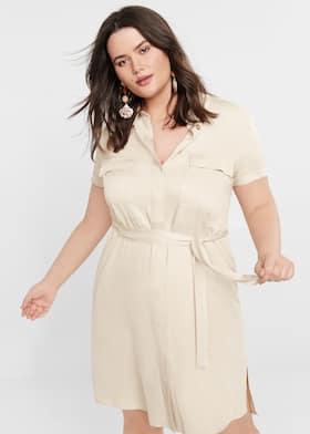 5af1eec05 Belt shirt dress - Plus sizes | Violeta by Mango Lithuania