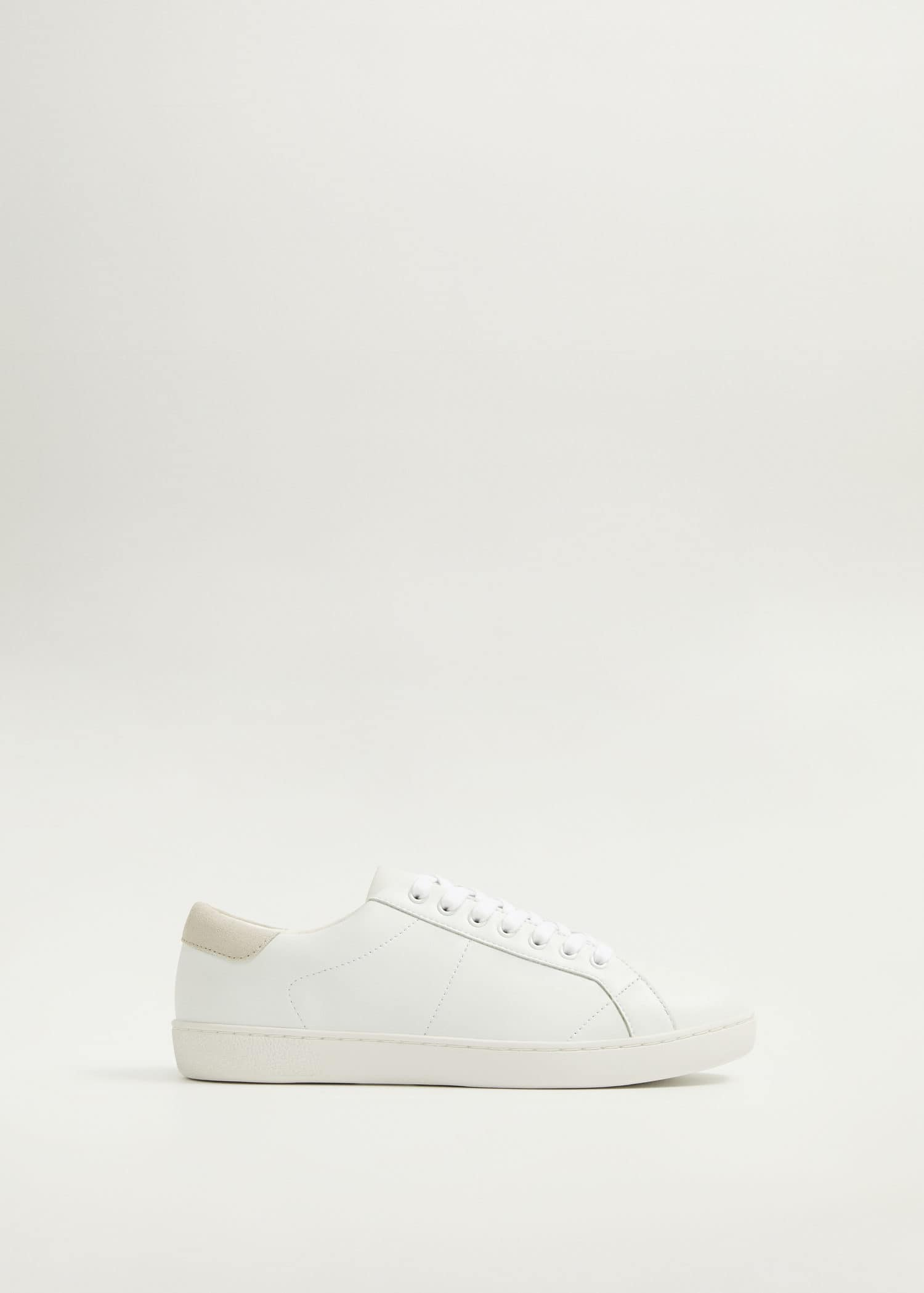 Monocoloured leather sneakers - Man