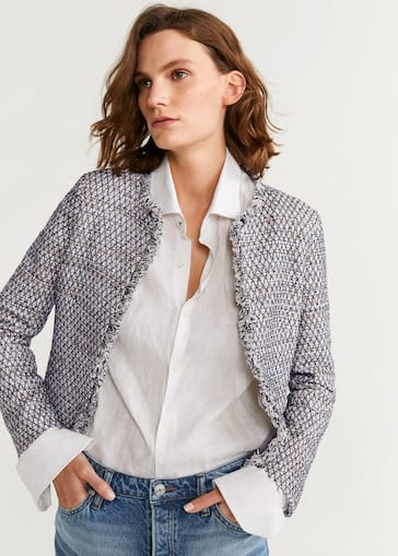 la meilleure attitude 9c711 52460 Metallic thread tweed jacket
