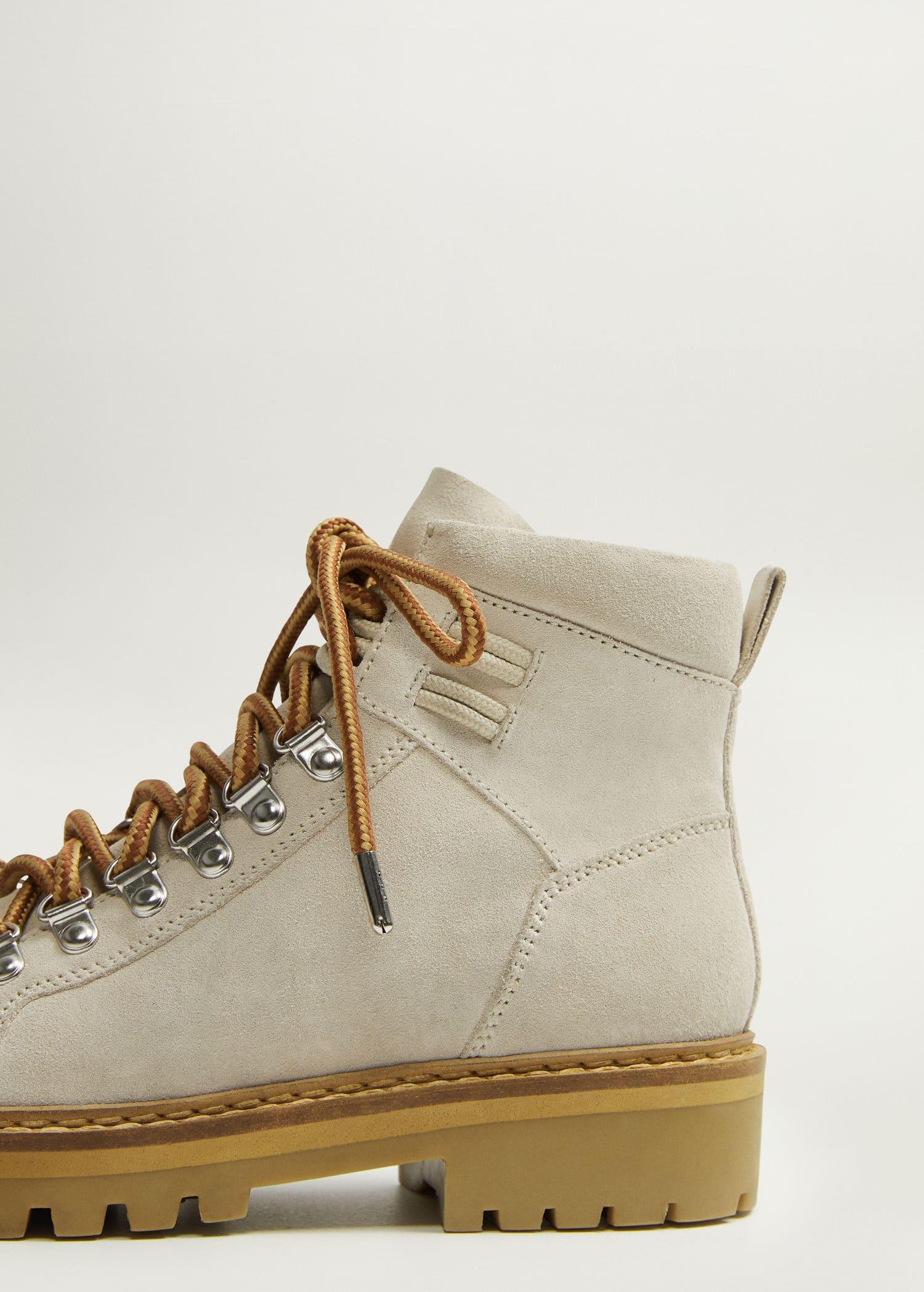 Lace-up leather boots - Woman | Mango Malta