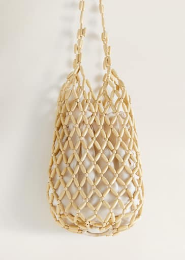 983bfc625d2 Beaded wood bag