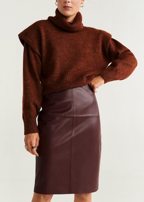 Faux-leather skirt - Medium plane