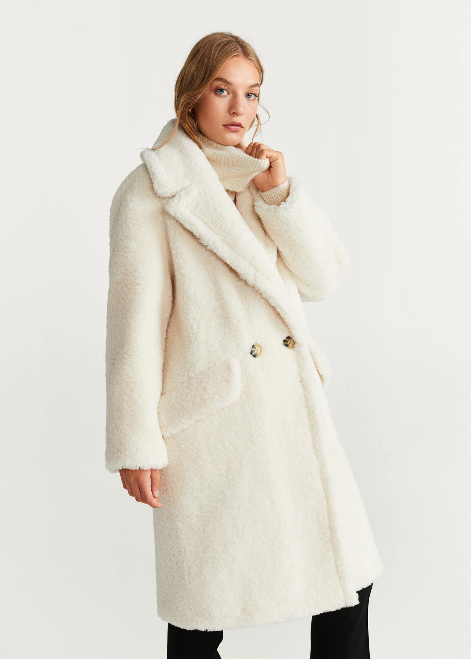 niedriger Preis elegantes Aussehen günstige Preise Mantel mit shearlingbesatz - Damen | Mango Deutschland