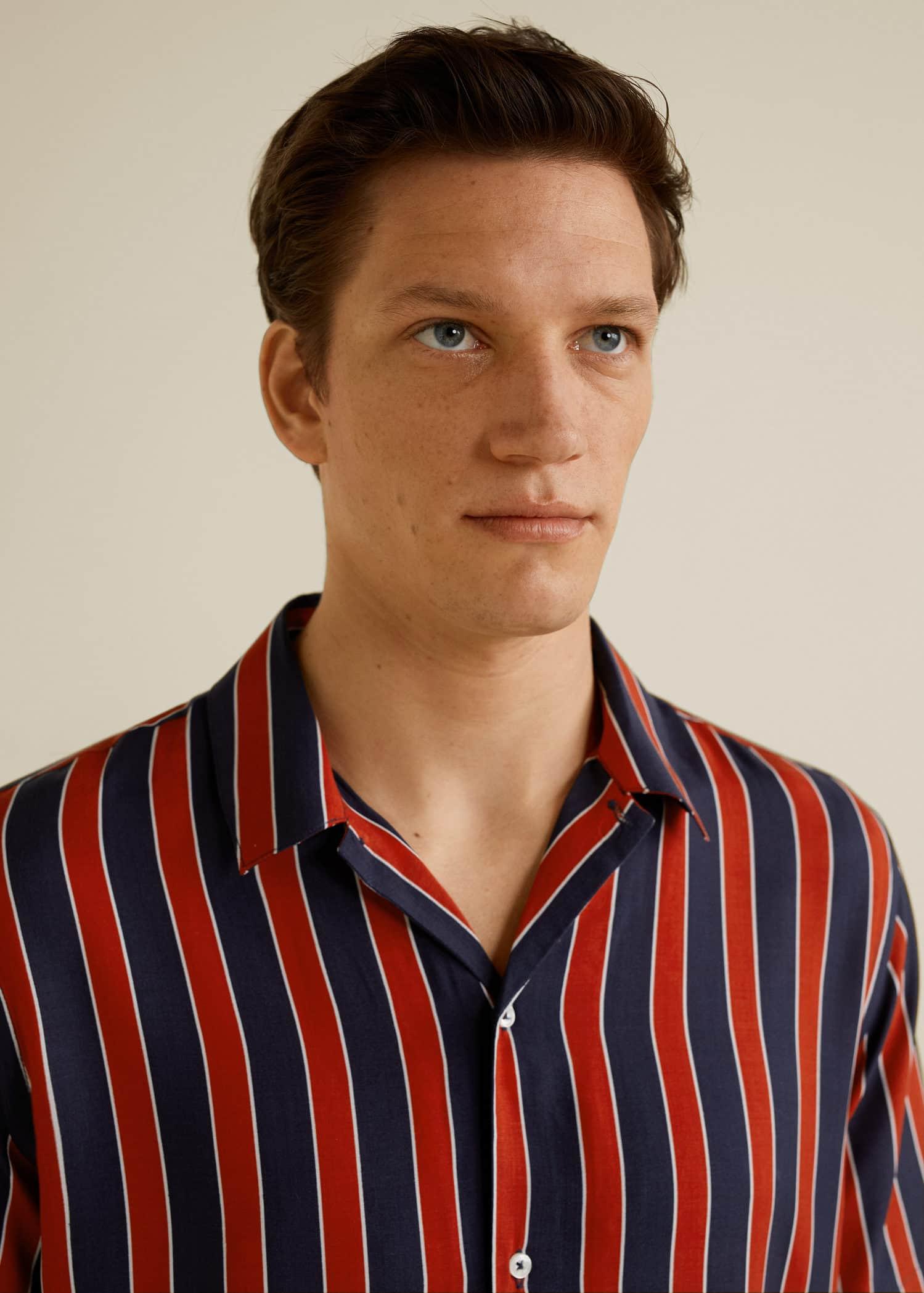 Camisa fluida rayas Hombre | Mango Man España