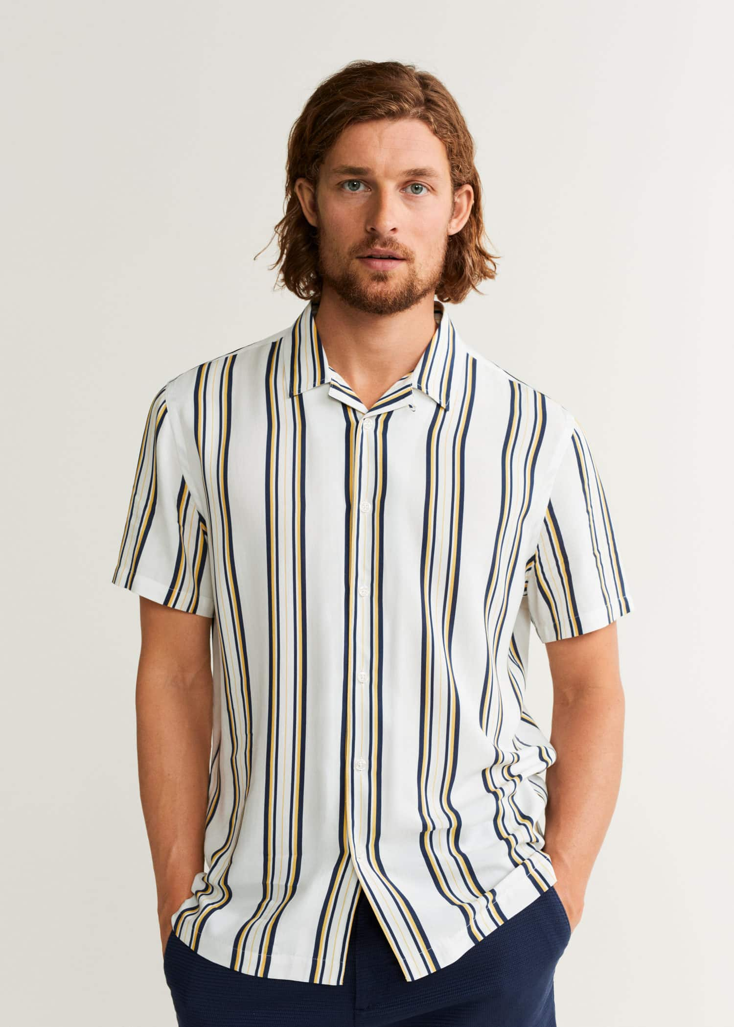 2019mango España Man K153ftlcuj Camisas De Hombre b7Y6gyfv