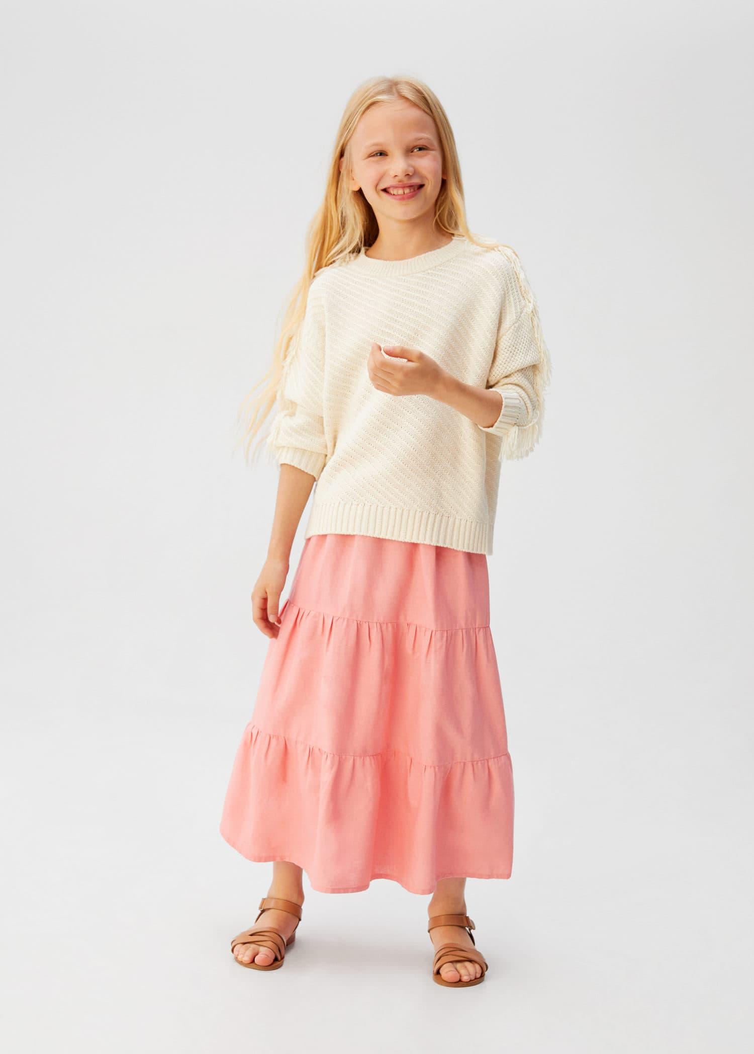 Długa spódnica bawełniana Dziewczynka | Mango Kids Polska