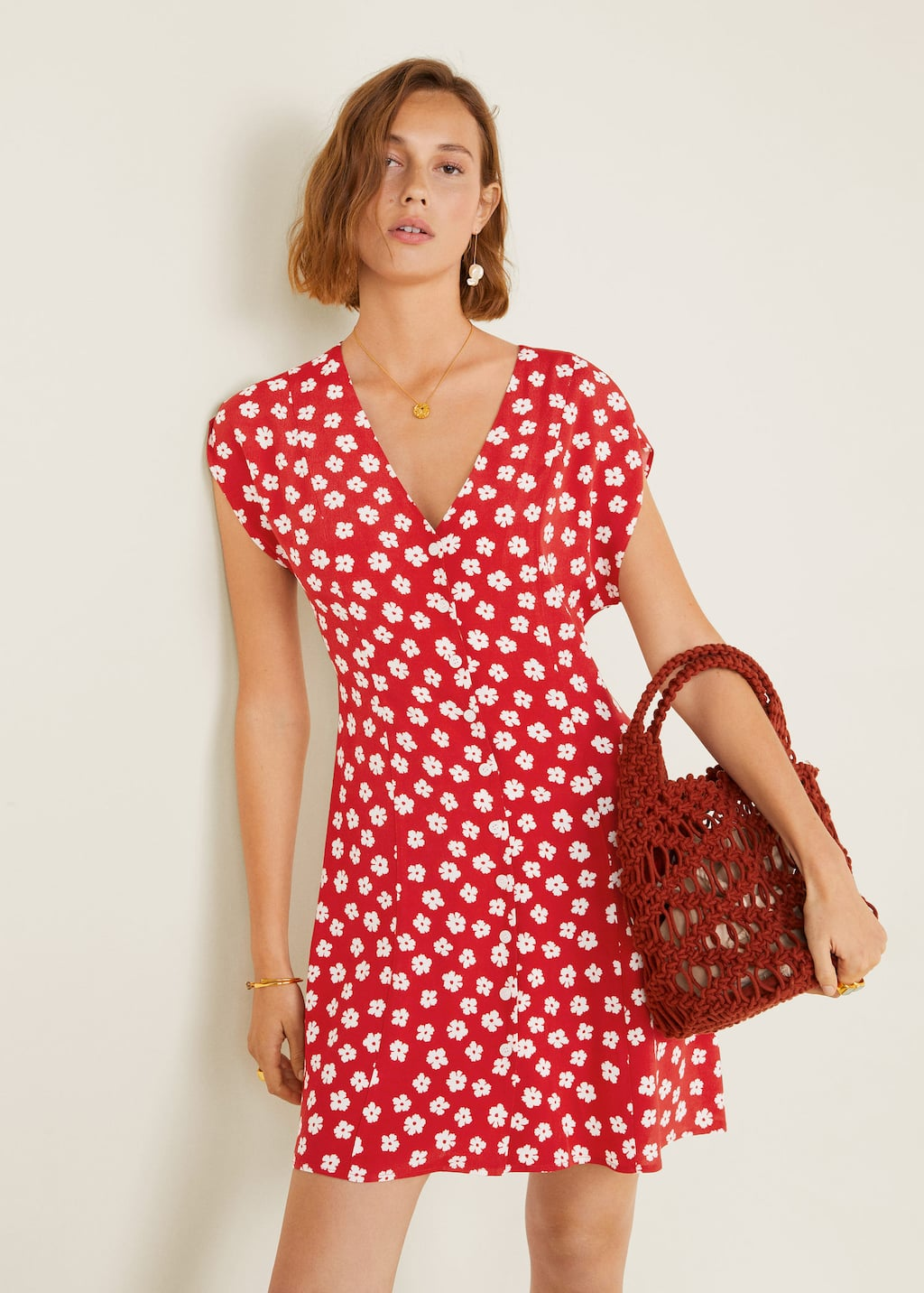 Flower Dress Women Mango Usa