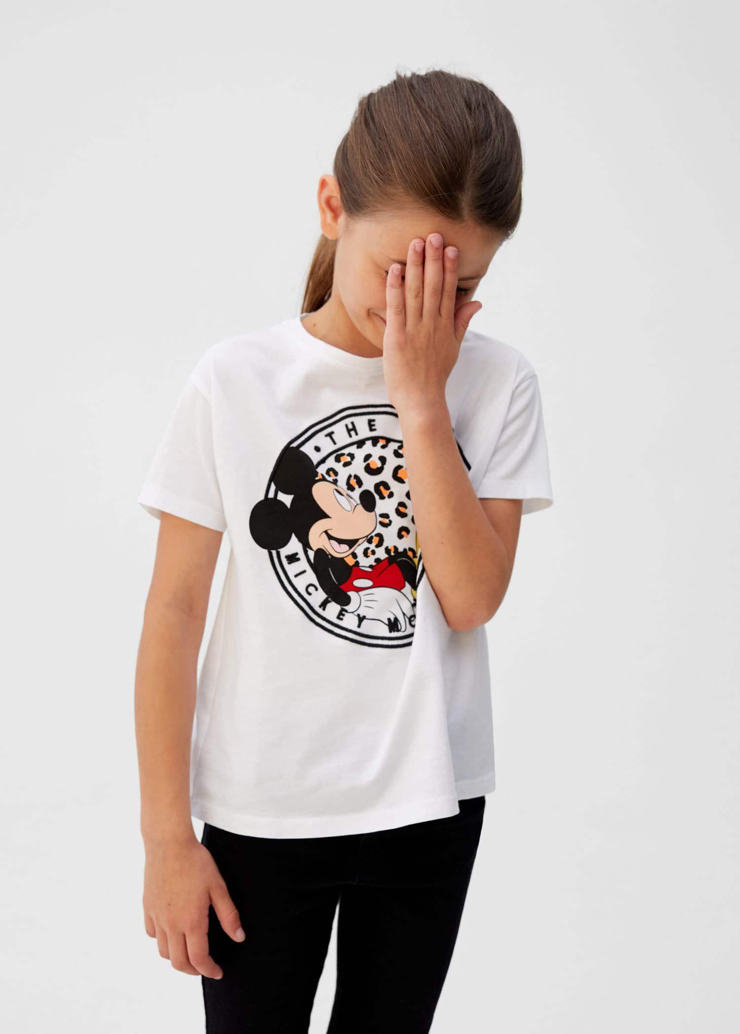 Mickey mouse t shirt Flicka | Mango Kids Sverige