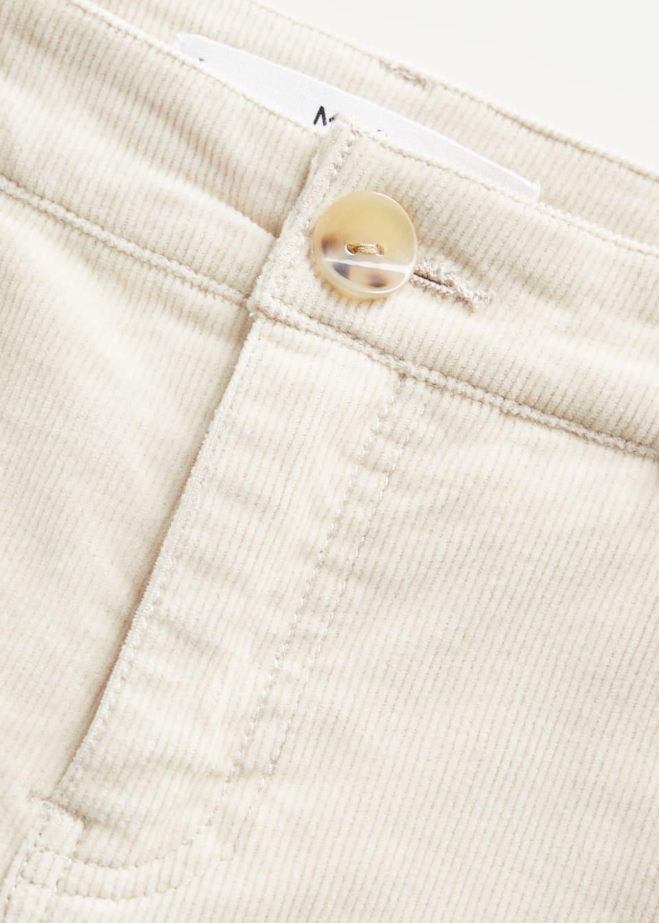 Pantalon Recto Pana Mujer Mango Espana
