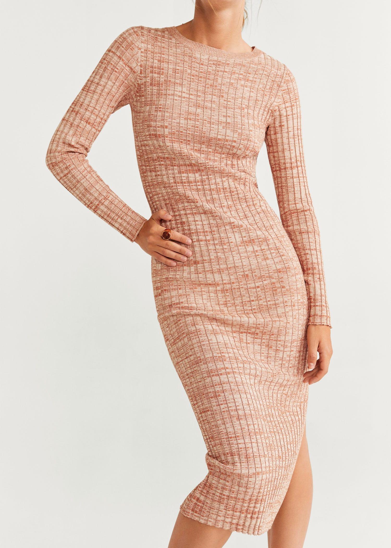 Knit long dress Women | Mango USA