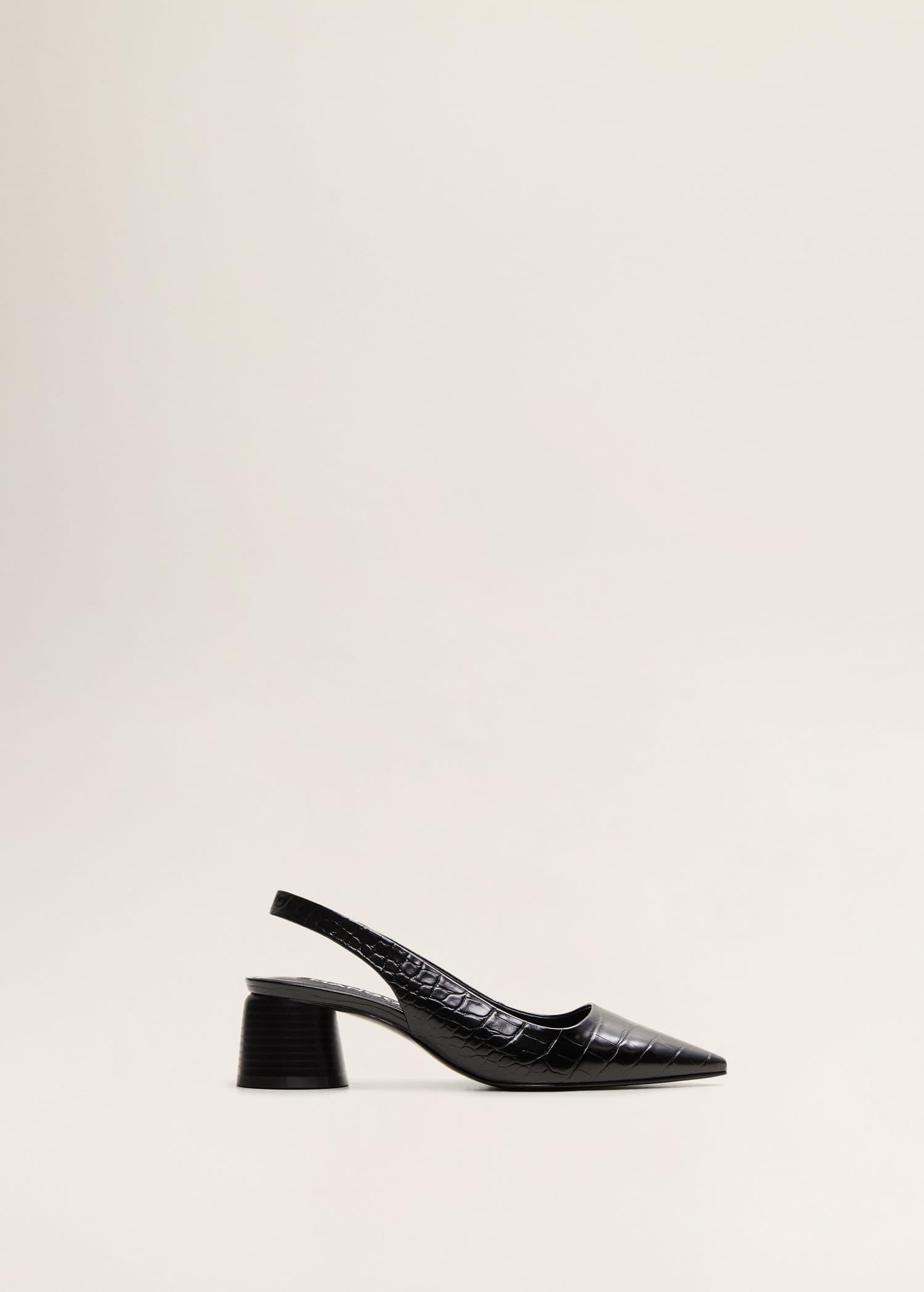 Zapato tacón destalonado Mujer   Mango España