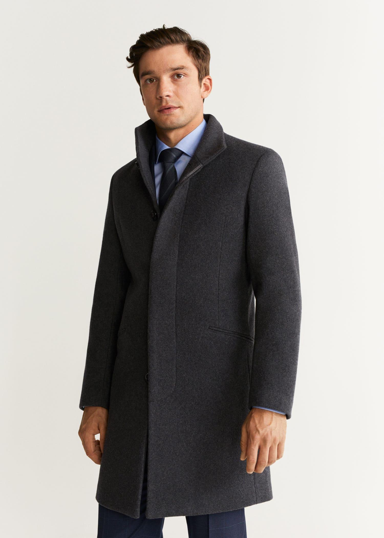 Manteau tailored laine Homme | Mango Man France