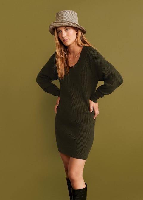 the chunky knit dress