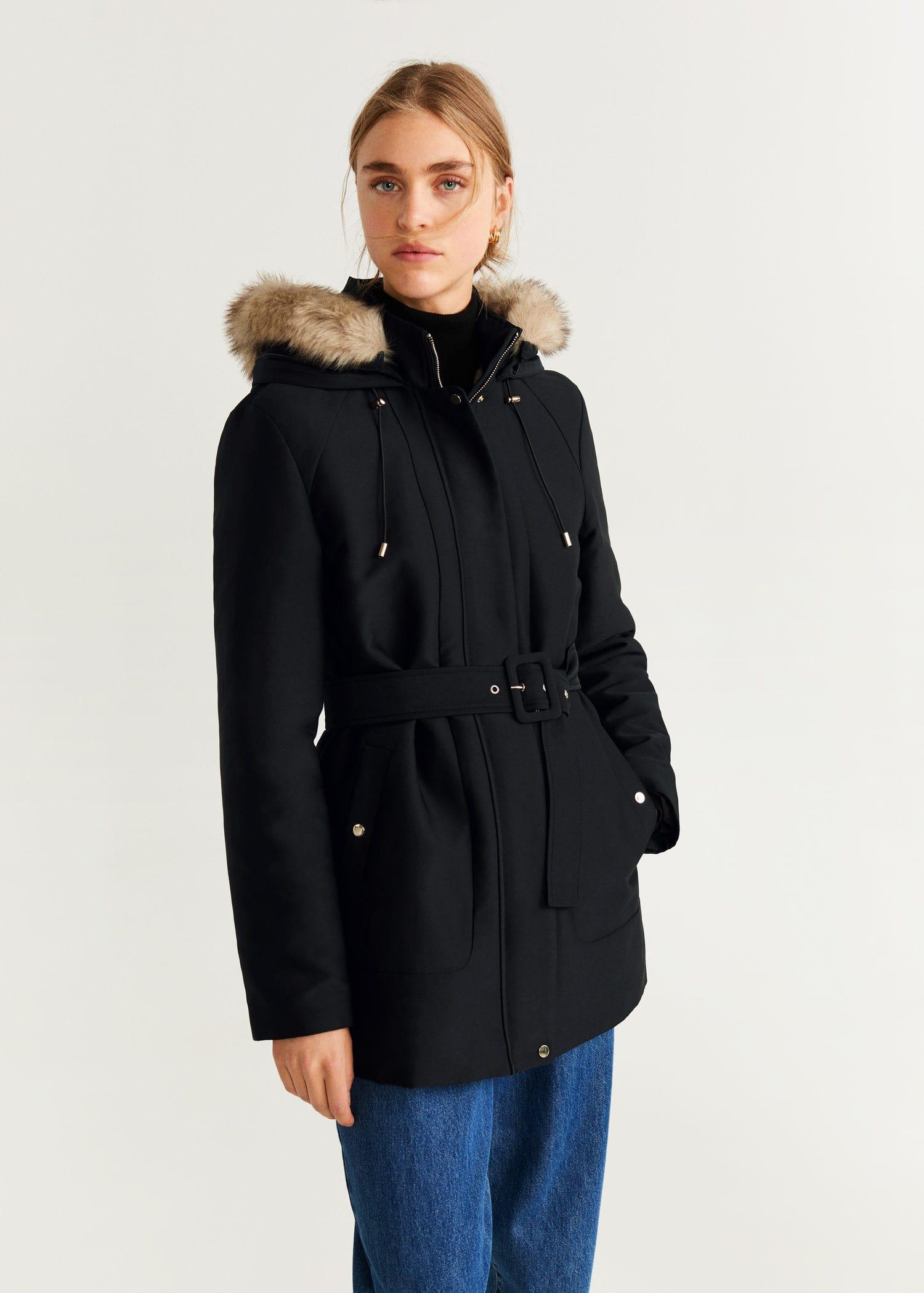 Manteau mi saison femme noir