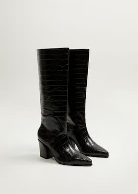 beaucoup de choix de magasiner pour authentique élégant et gracieux Croc-effect boots