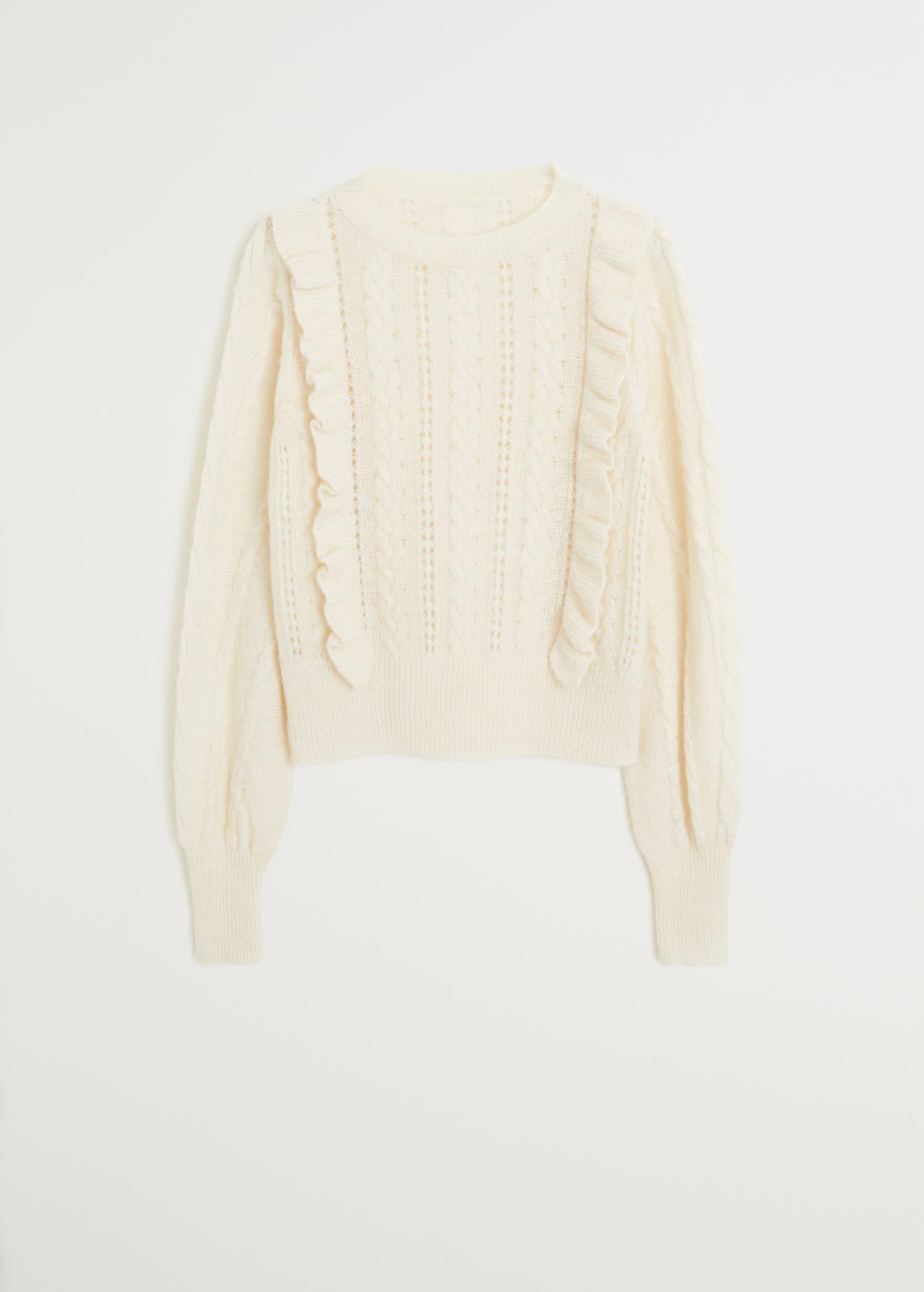 Pullover mit Rüschen
