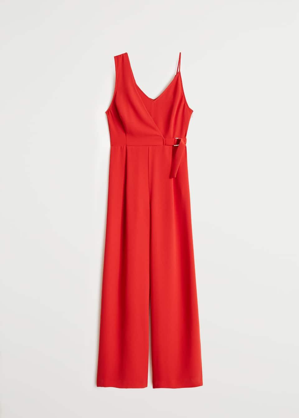 novi stil nove fotografije outlet store Asymmetric long jumpsuit - Women | Mango USA