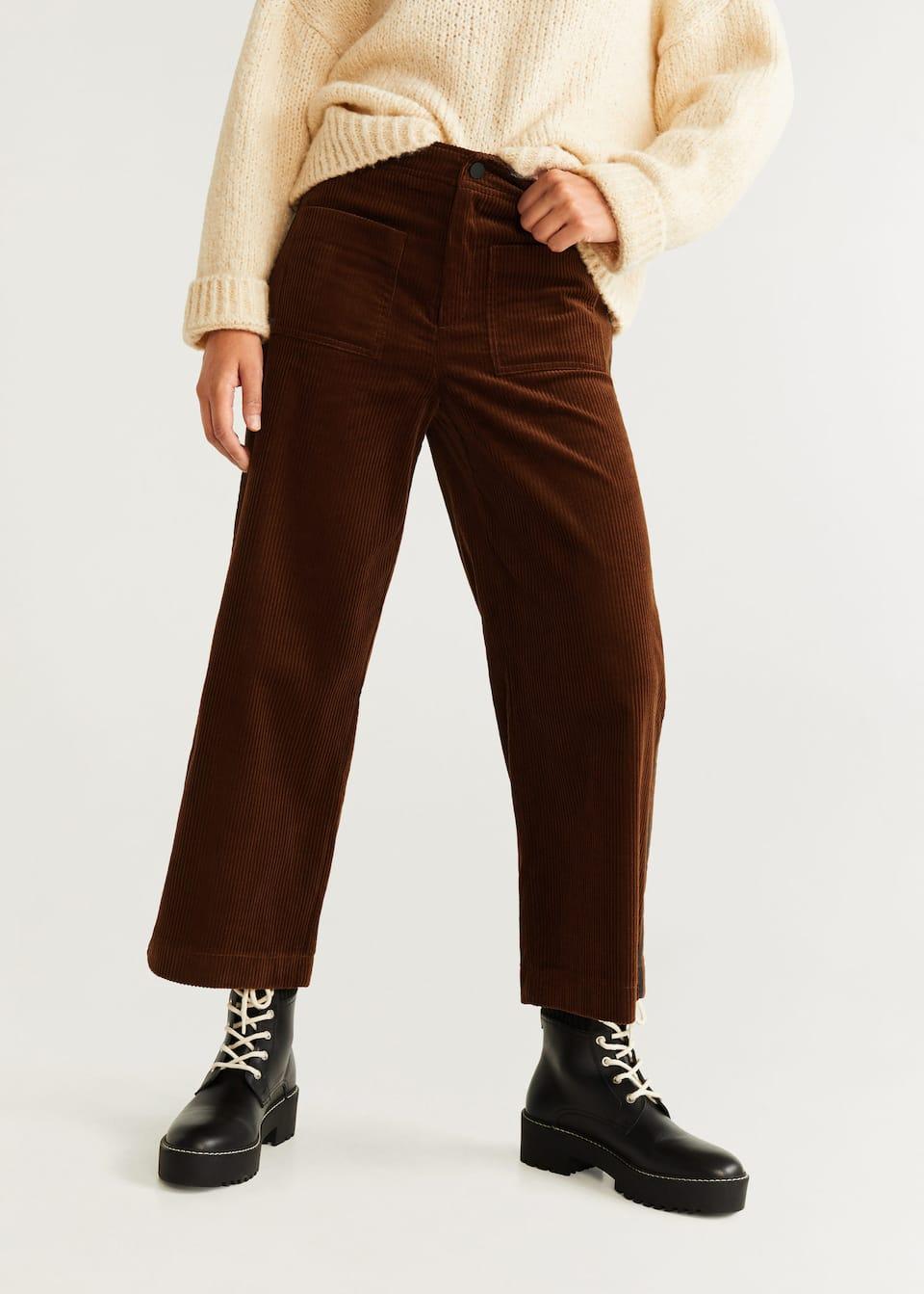 Вельветовые брюки из хлопка by Mango
