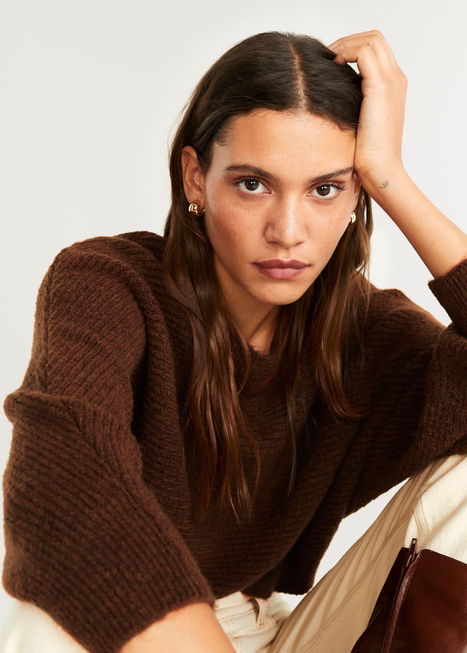 Oversize knit sweater Women | Mango United Kingdom