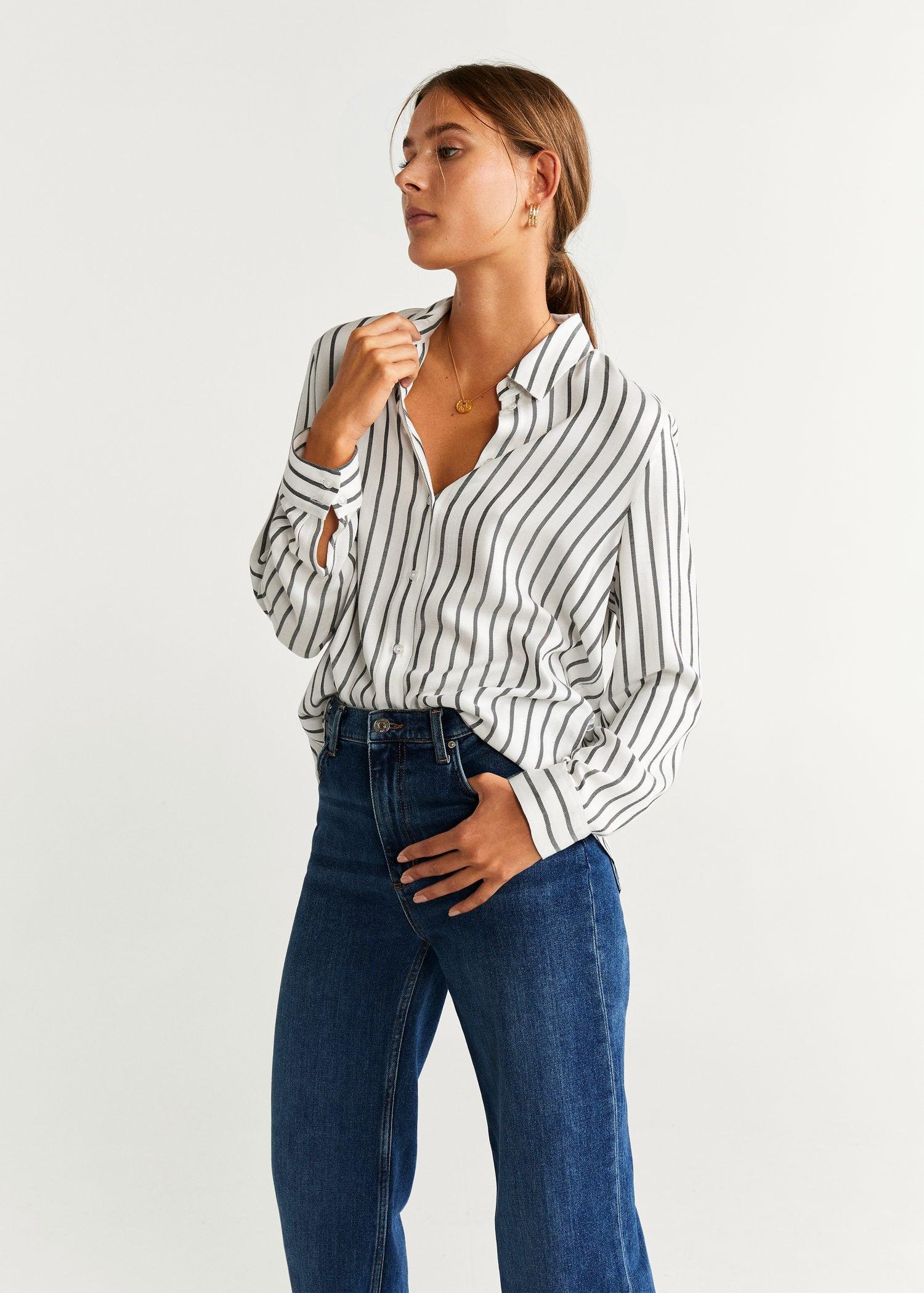 Camisa estampada fluida Mujer   Mango España