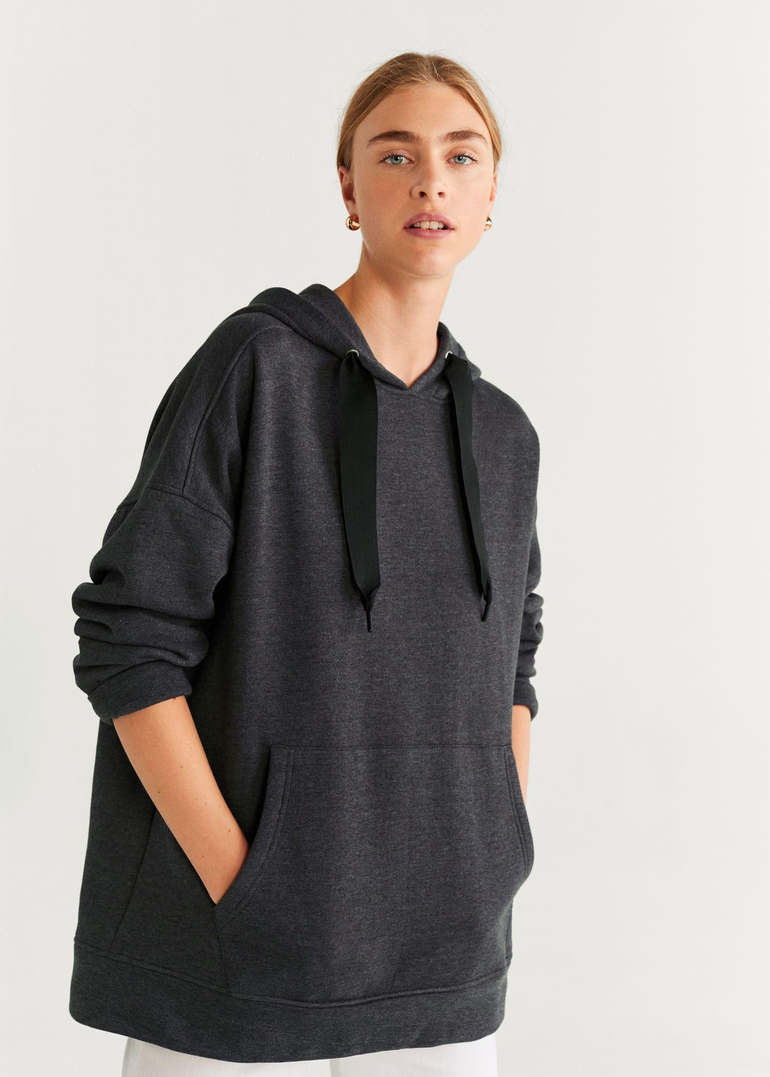 Sweat shirt oversize capuche Femme | Mango Luxembourg