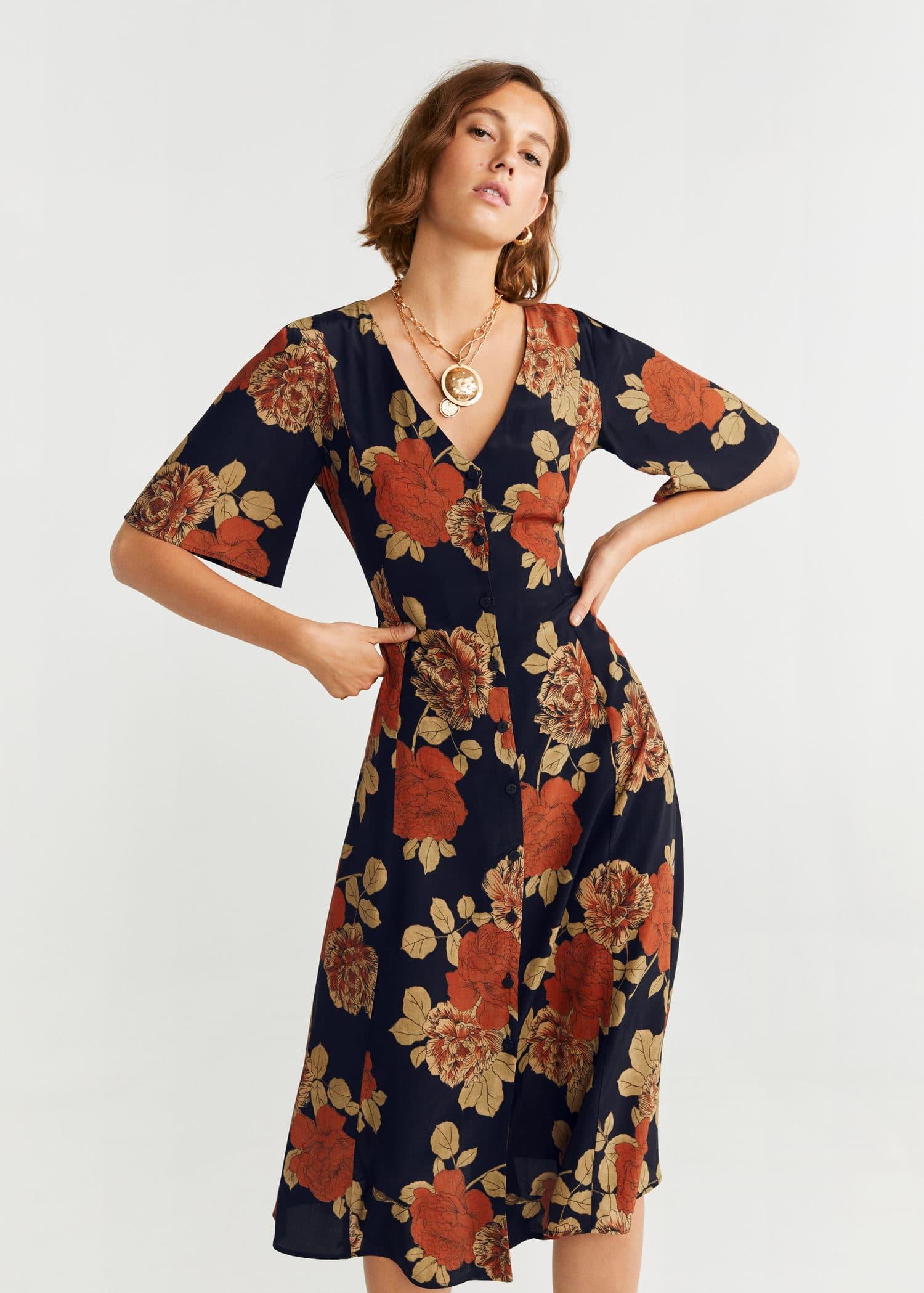 Midi floral dress Woman | MNG Australia