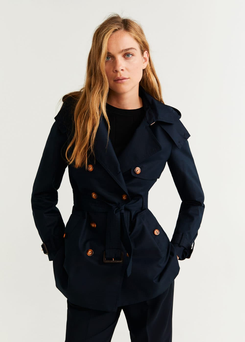 Double Breasted Trench by Mango