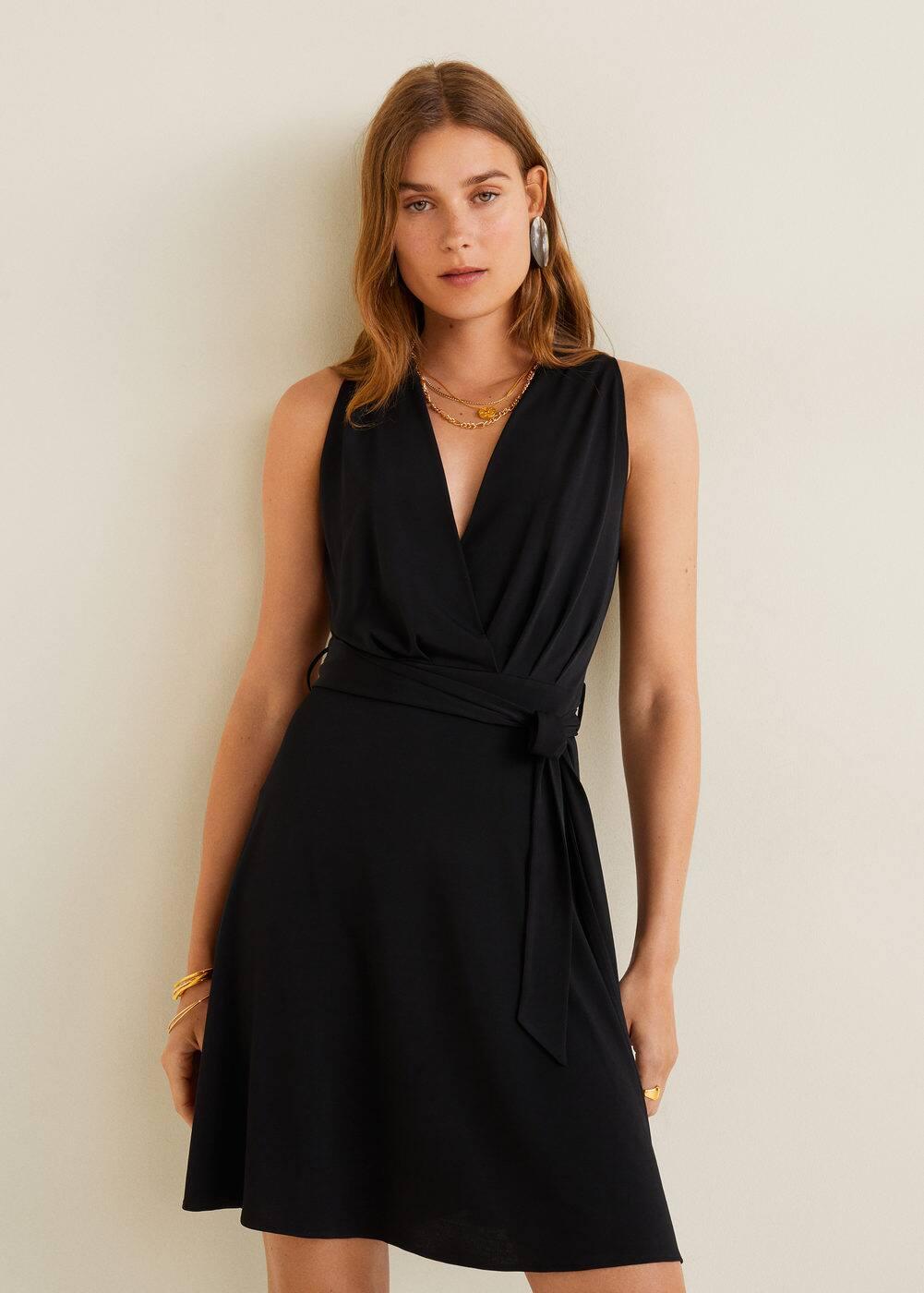 Robe courte nœud -  Femme | Mango France