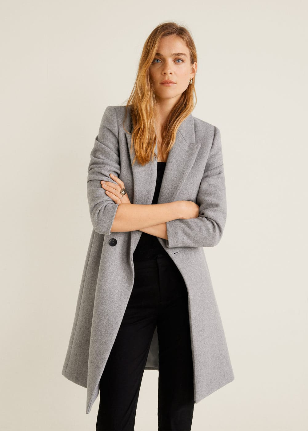 Structured Wool Coat by Mango