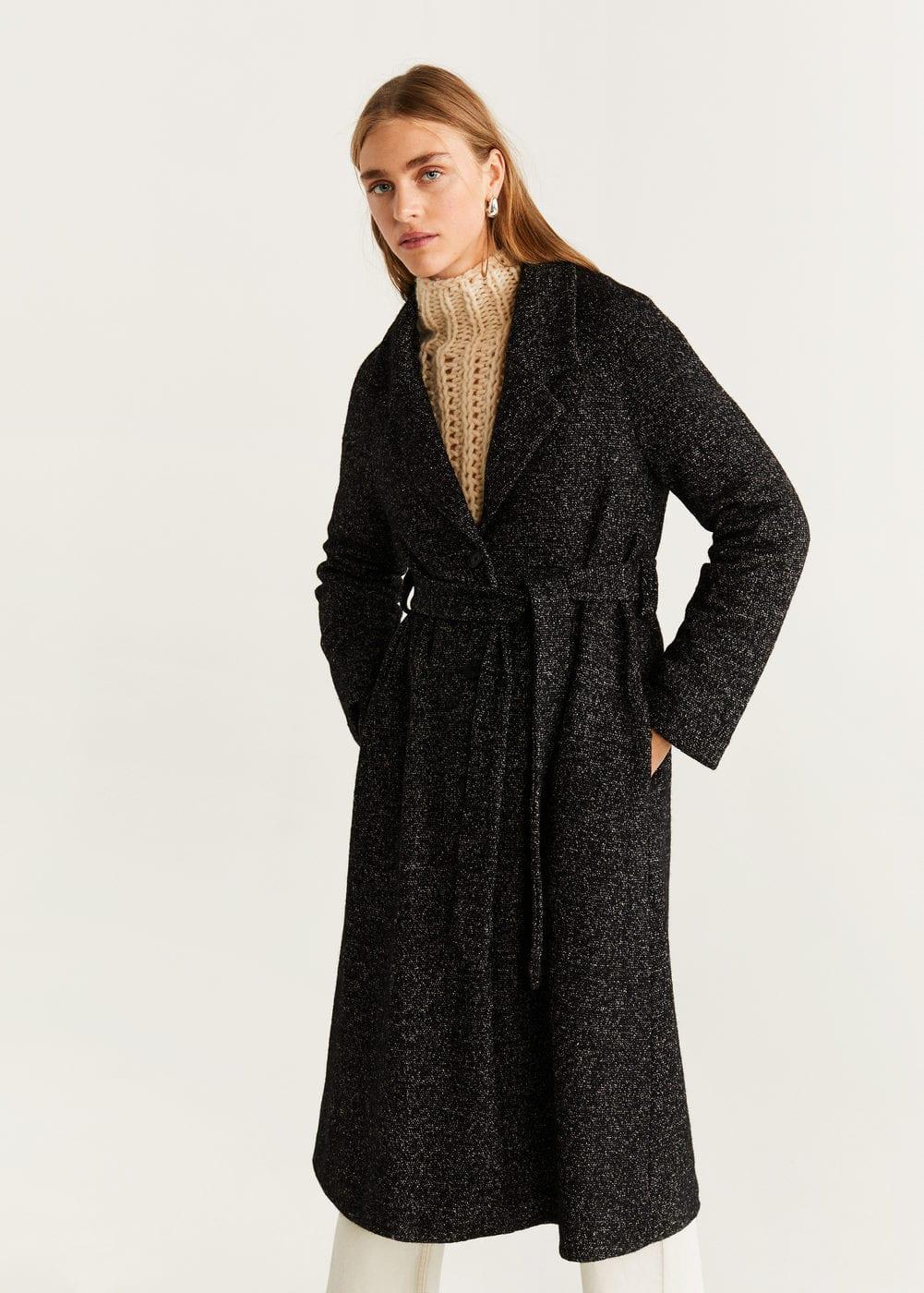 Belted Wool Coat by Mango
