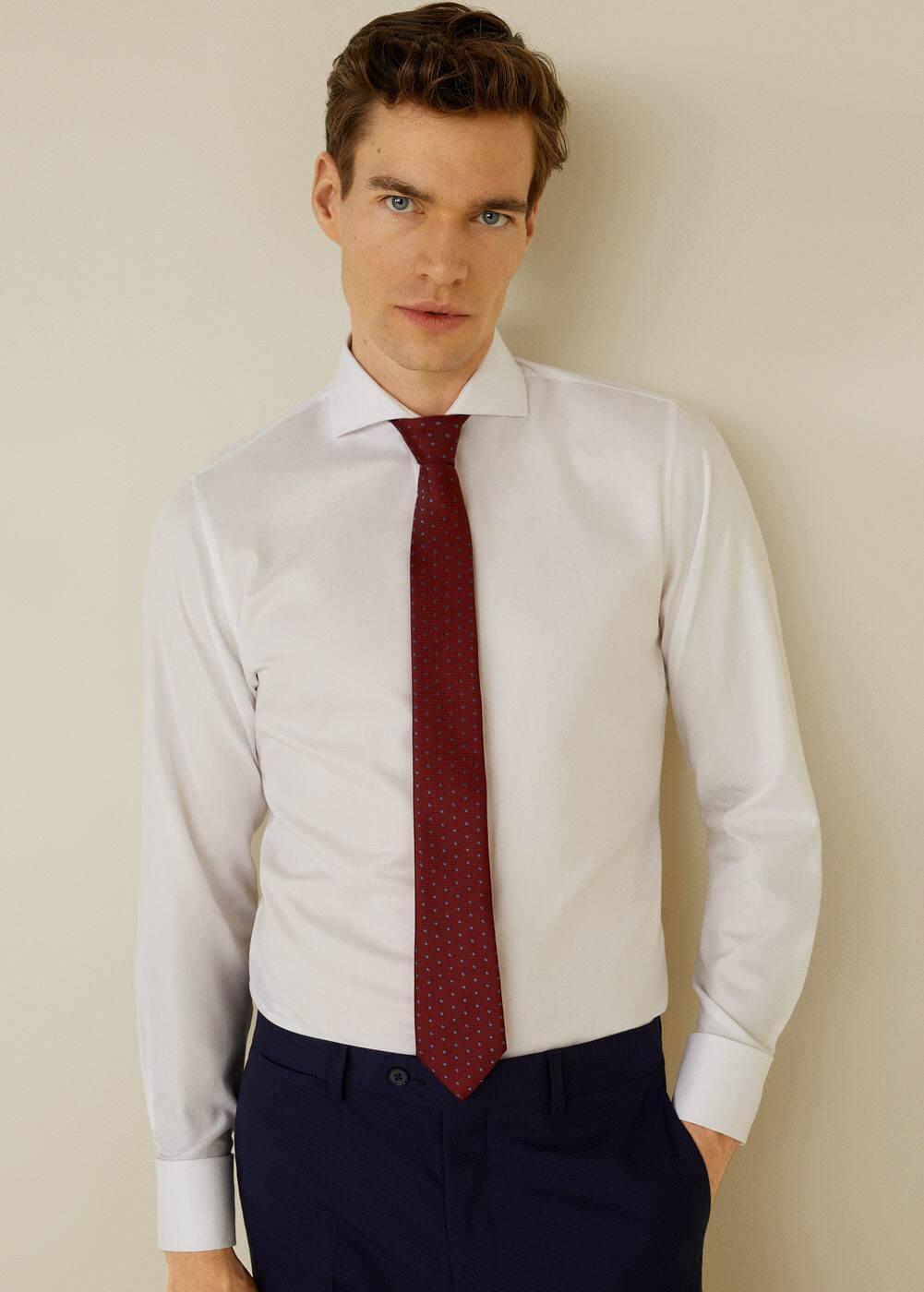 h-angus:camisa tailored slim fit algodon