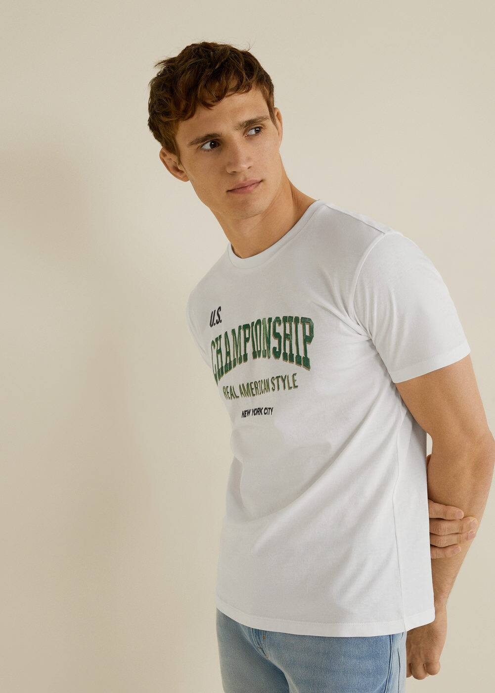 h-champion:camiseta algodon estampado