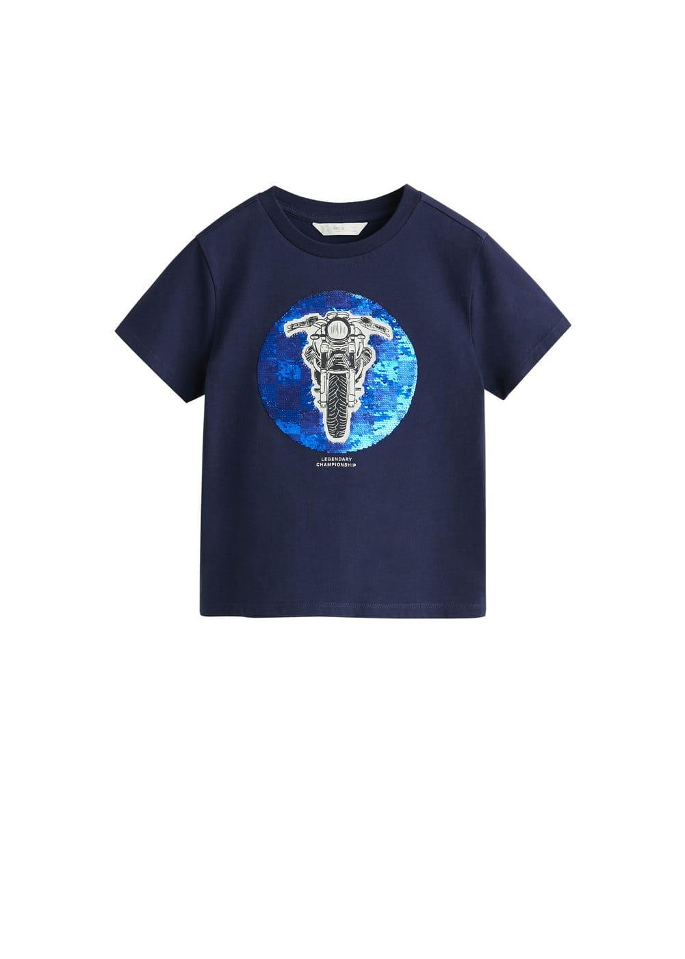 o-moto5:camiseta mensaje lentejuelas