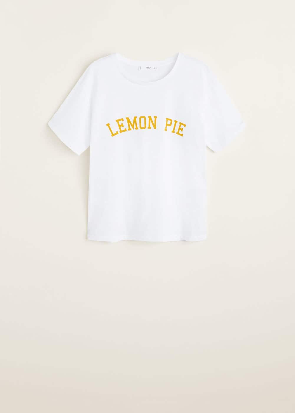 T FemmeMango Suisse Shirt Message Imprimé vm08Nwn