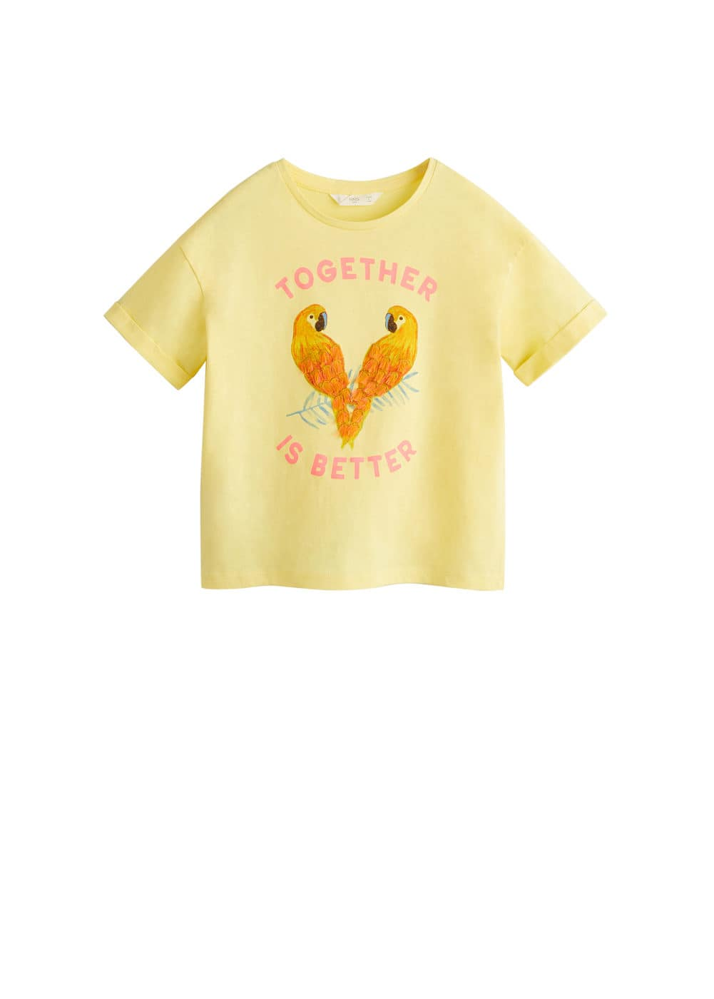 a-loros:camiseta loros bordada