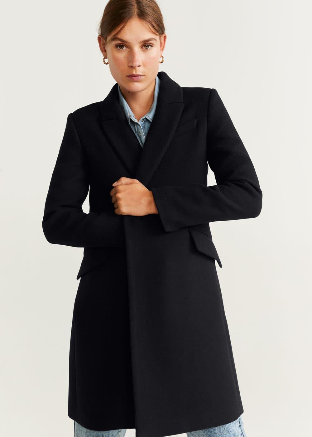 Lapels Wool Coat by Mango